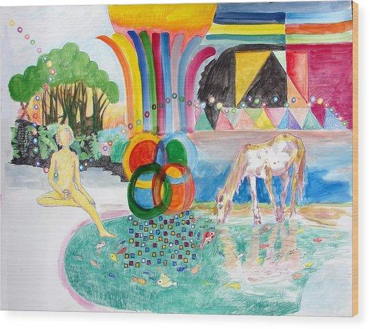 Maitreya Wood Print