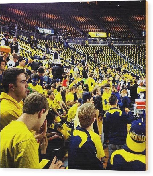 Maize Rage Wood Print