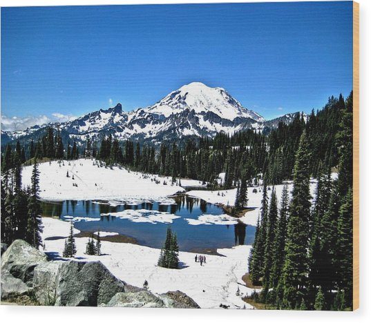 Majestic Rainier Wood Print