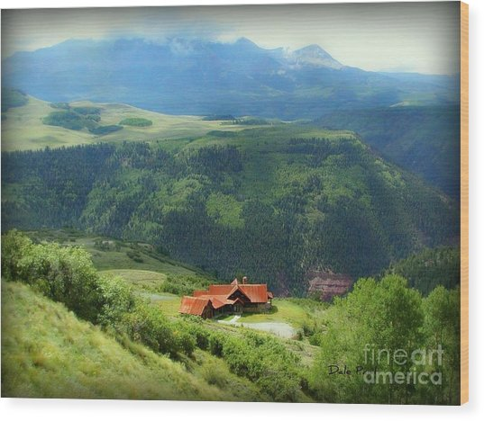 Majestic View Wood Print