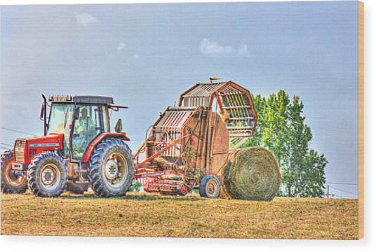 Making Hay Wood Print by Barry Jones