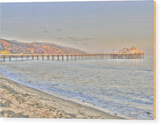 Malibu Pier North Wood Print