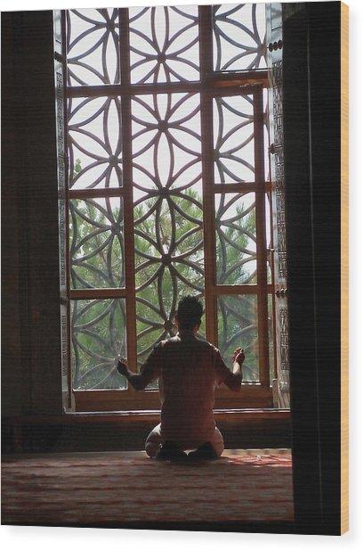 Man At Prayer Wood Print