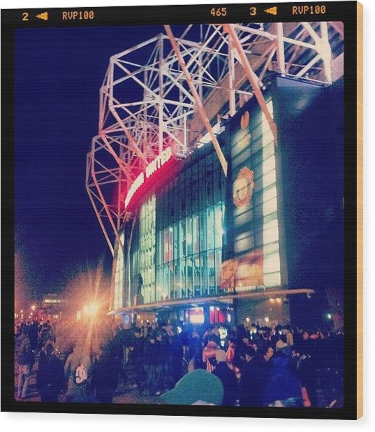 #manchester #manchesterunited Wood Print