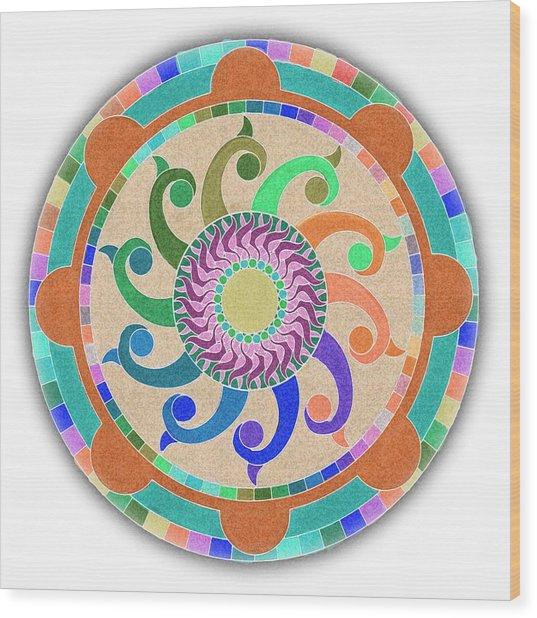 Mandala Meditation 1 V2 Wood Print