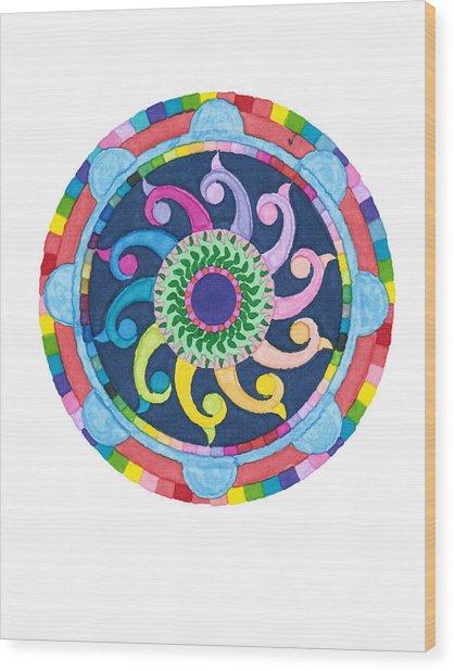 Mandala Meditation I Wood Print
