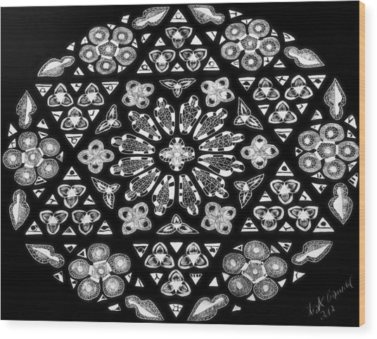 Mandala Of Hope Phase 1 Wood Print