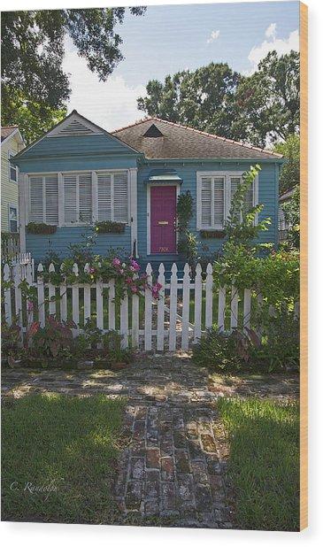 Mandevilla Cottage Wood Print