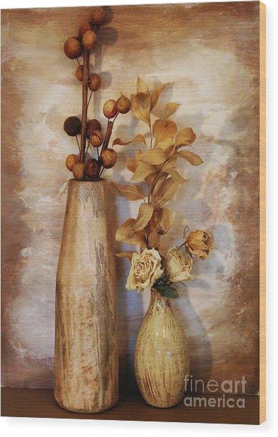 Mangowood Vase Wood Print by Marsha Heiken