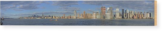 Manhattan - Hudson View Wood Print