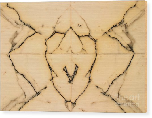 Marble Face Wood Print