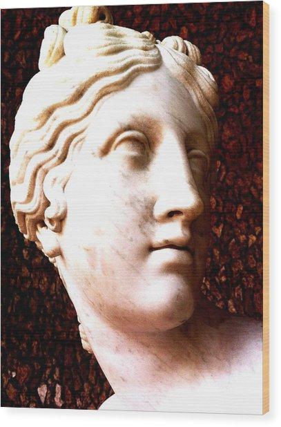 Marble Sculpture Wood Print by Paul Washington