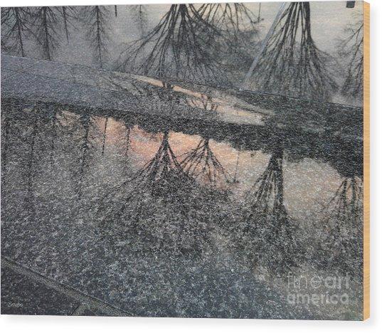 Marble Sunset Wood Print