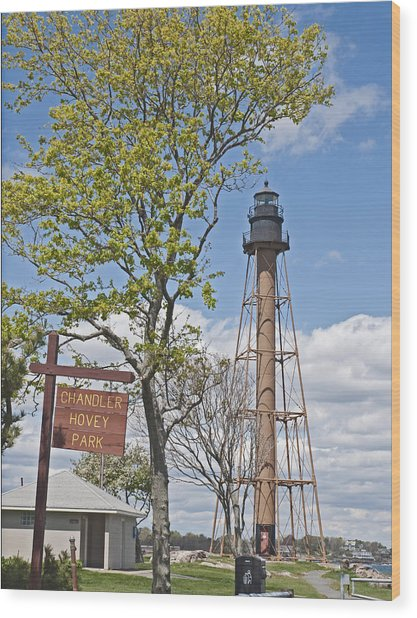 Marblehead Light House Wood Print