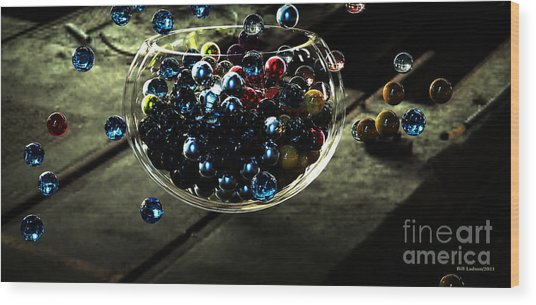 Marbles In A Bowl Wood Print