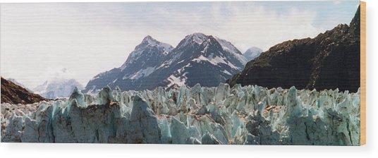 Margerie Glacier View Wood Print