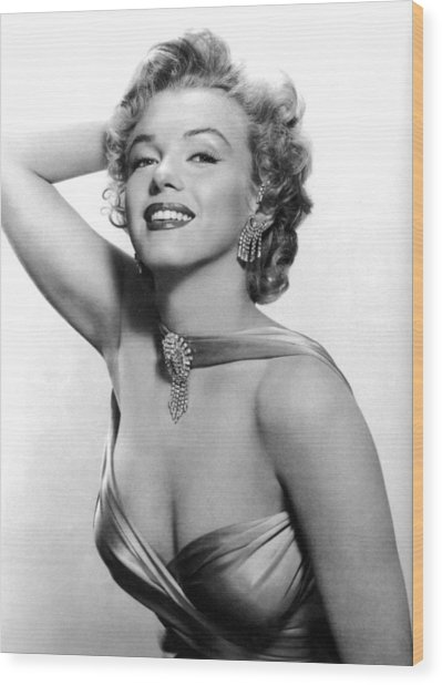Marilyn Monroe, Circa 1950s Wood Print by Everett