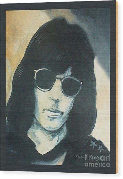 Marky Ramone The Ramones Portrait Wood Print by Kristi L Randall