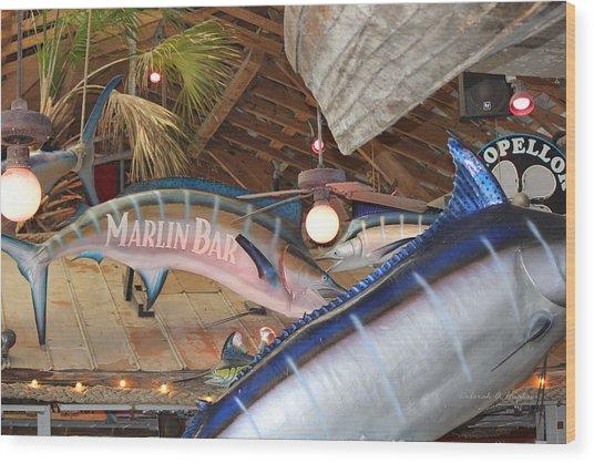 Marlin Bar Wood Print