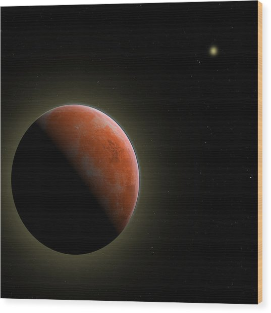 Mars - The Red Planet Wood Print