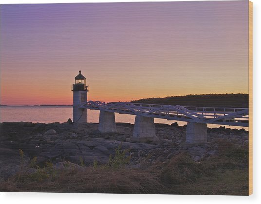 Marshell Point Light House Wood Print