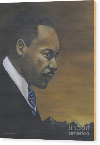 Martin Luther King Jr - From The Mountaintop Wood Print