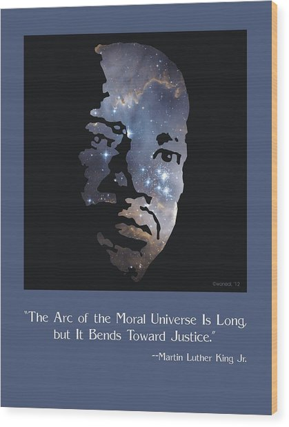 Martin Luther King, Jr. Poster Wood Print