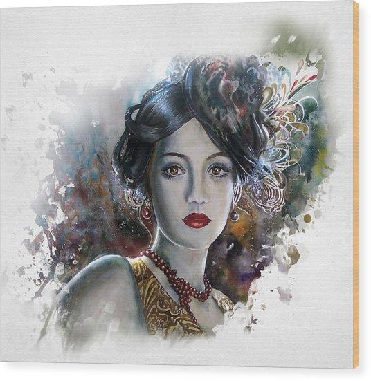 Mary Lips Like Cherries Wood Print by Tanya Jacobsz