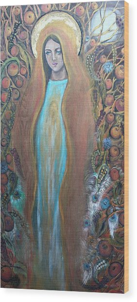Mary Magdalene And The Tree Of Life Wood Print