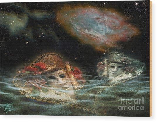 Mask Nebulae Wood Print
