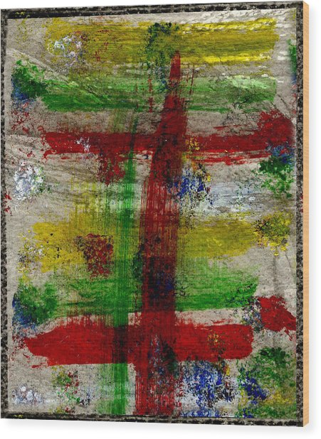 Mast On Fire Wood Print by Kimanthi Toure