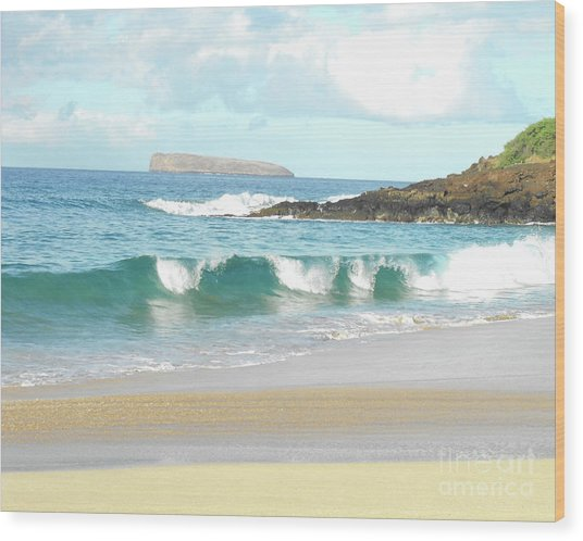 Maui Hawaii Beach Wood Print