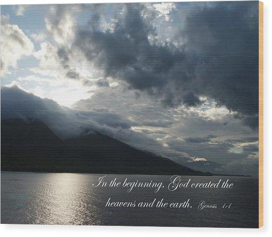 Maui Scripture II Wood Print by Mike Lytle