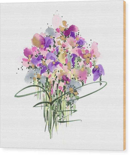 Mauvey Bouquet Wood Print