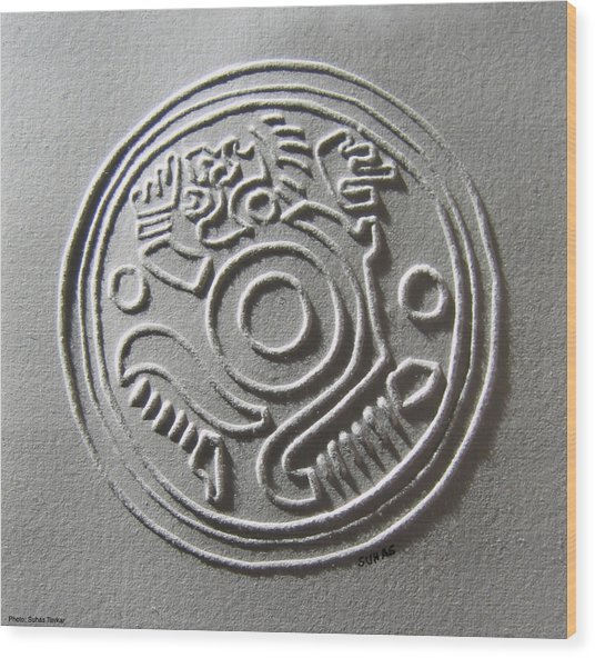 Maya Art Wood Print by Suhas Tavkar