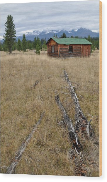 Mccarthy Family Cabin Glacier National Park Wood Print