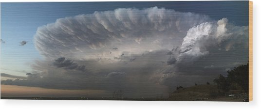 Mcconaughy Supercell Wood Print by Loren Rye