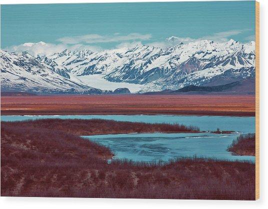 Mclaren Glacier Wood Print