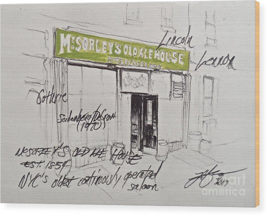 Mcsorley's Wood Print