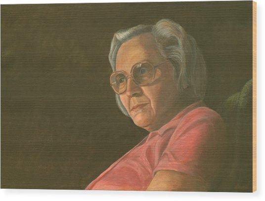 Me Mum Wood Print