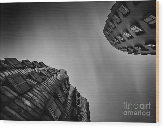Medienhafen Wood Print by Geoffrey Gilson