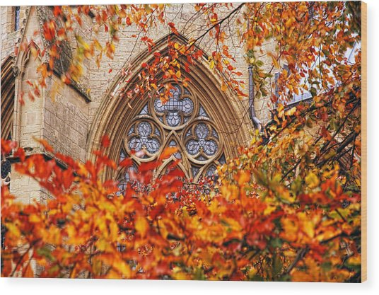 Medieval Firewall Today Wood Print by Duncan Nelson