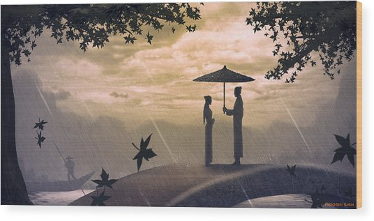 Meet Wood Print by Hiroshi Shih