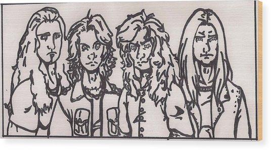 Megadeth Wood Print
