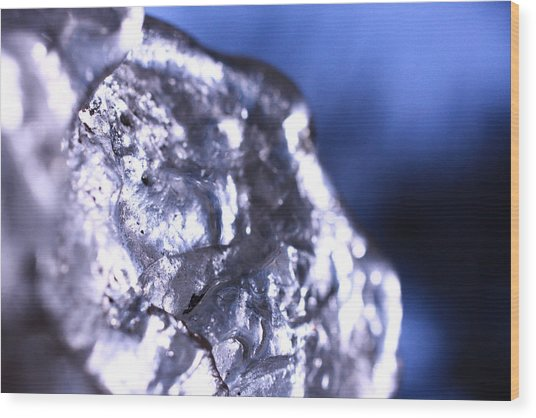 Melted Glass 2 Wood Print by Will Czarnik
