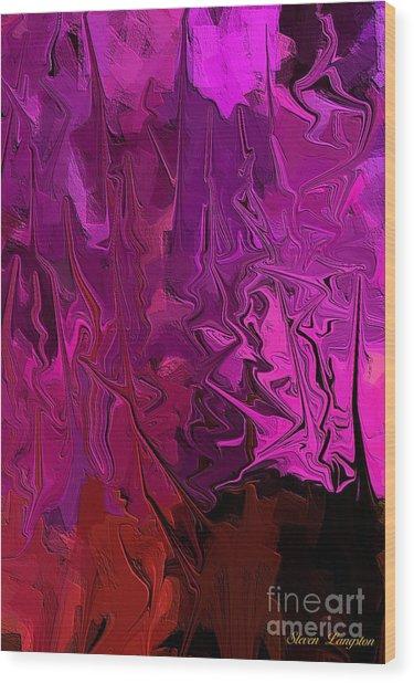 Melting Colors 2 Wood Print