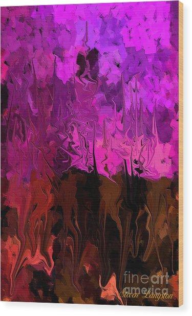 Melting Colors Wood Print