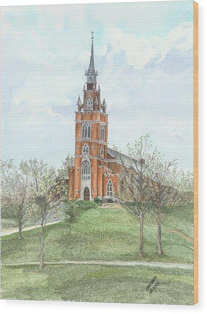 Memorial Chapel  Wood Print