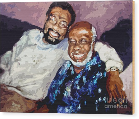 Memphis Soul Music William Bell And Rufus Thomas Wood Print by Ginette Callaway