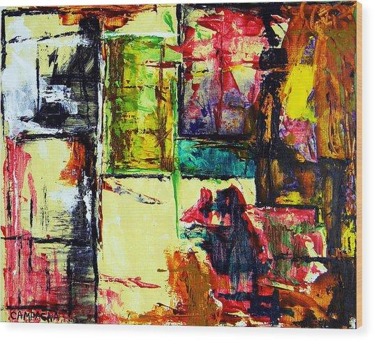 Mental Slum Wood Print